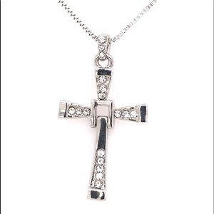 Jewelry - Waving Cross Swarovski Pendant